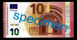 """Test Note """"JEGRO, Logo 6, Typ 2 Horizontal"""""""", Glossy Paper,  Billet Scolaire, 10 EURO, Ca. 98 X 50 Mm, RRR, UNC - Sonstige"""