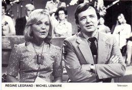 CP - Foto Filmstar Ciné  Vedette Télévision - Regine Legrand - Michel Lemaire - Célébrités