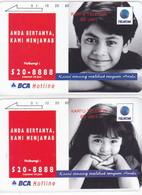 INDONESIA INDONESIEN  INDONESIE - IND P 331..332-P 330..331  BCA Hotline Boy-Girl -. MINT RRR - Indonesia