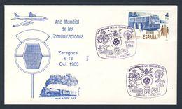 Spain Espana 1983 Cover / Brief / Lettre - Int. Year Of Communications / Weltkommunikationsjahr - ONU