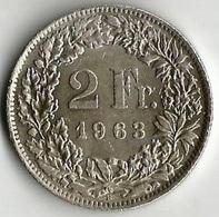 Pièce De 2 Francs 1963 B - Suisse