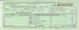 68638- TRAVEL TICKET ISSUED IN THE TRAIN, ANINA-ORAVITA ROUTE, 2017, ROMANIA - Treni