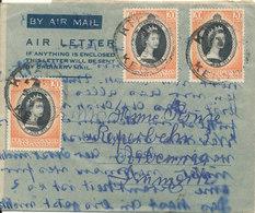 Kenya Uganda Tanganyika Aerogramme Sent To Denmark 1953 - Kenya, Uganda & Tanganyika