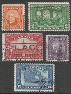 Canada. 1927 60th Anniv. Of Confederation. Commemorative Issue. Used Complete Set. SG266-270 - 1911-1935 Reign Of George V