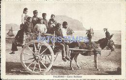 85078 ITALY PALERMO SICILIA COSTUMES CARRO SICILIANO CART POSTAL POSTCARD - Unclassified