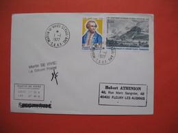 TAAF Lettre Martin De Vivies - St Paul -AMS   Pour La France N° 63 Et PA47  Du 1/1/1977  Visé Par Le Gérant Postal - French Southern And Antarctic Territories (TAAF)