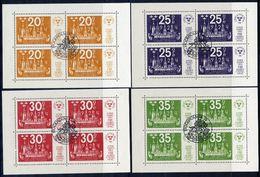 SWEDEN 1974 STOCKHOLMIA '74 Set Of 4 Blocks Cancelled.  Michel Blocks 2-5 - Blocks & Sheetlets