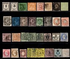 Anciens Etats Allemands Belle Collection 1850/1872. Nombreuses Bonnes Valeurs. A Saisir! - Verzamelingen
