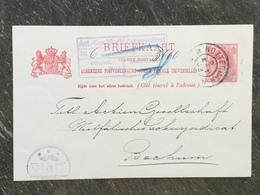 B7 Niederlande Netherlands Pays-Bas Ganzsache Stationery Entier Postal P 28 Von Rotterdam Nach Bochum - Ganzsachen