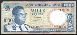 362-Congo Billet De 1000 Francs 1961 G091 - Republic Of Congo (Congo-Brazzaville)