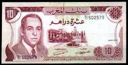 347-Maroc Billet De 10 Dirhams 1970 BA52 - Marocco