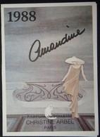 Petit Calendrier De Poche Parfumé Parfum De Toilette Christine Arbel Paris 1988 Amandine Chat - Small : 1981-90