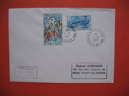 TAAF Lettre Martin De Vivies - St Paul -AMS   Pour La France N° 61 Et 64   Du 1/2/1977 - French Southern And Antarctic Territories (TAAF)