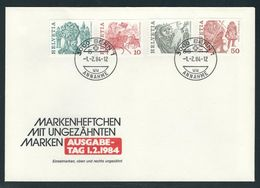 FDC Mit MiNr. 1100 Eor/1101 Eor/1103 Eor/1105 Eor Aus Markenheftchen, Gestempelt 3000 BERN 1 ANNAHME 1.2.84 - Schweiz