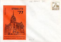 """Berlin Privat GZS-Umschlag PU 068 D2/007 WSt.30(Pf)hellbraun """"STEGLITZ'77"""" Ungebraucht - Berlin (West)"""