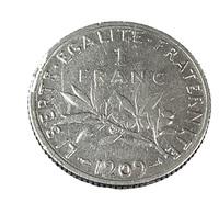 1 Franc - Semeuse  - France - 1909 - TB + - Argent - - H. 1 Franc