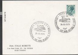 3229  Tarjeta Italia Trieste C.P  150 Aniversario Ressel E L'elica - 1946-.. République