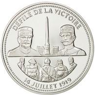 France, Medal, Défilé De La Victoire, FDC, Cuivre Plaqué Argent - France