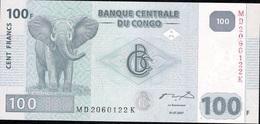 CONGO D.R. P98b 100 FRANCS 2007 Hdm  UNC. - Democratic Republic Of The Congo & Zaire