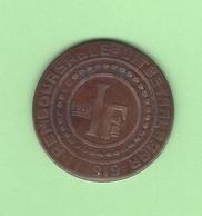 Belgique. Monnaie De Nécessité De La Ville De Gand. Stad Van Gent. 1 Fr 1915 Remboursable Jusqu'au 1/1/1919 - Belgique