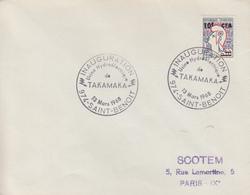 Enveloppe    REUNION   Inauguration  Usine  Hydroélectrique  De  TAKAMAKA    SAINT  BENOIT    1968 - Lettres & Documents