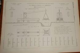 Plan D'expériences Sur La Résistance Des Fers Forgés Faites à Meaux Avec L'appareil De M.Timberinck. 1858 - Public Works