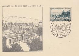 Carte  Locale   1er   Jour    Journée  Du  TIMBRE    AIX  LES  BAINS    1952 - Stamp's Day