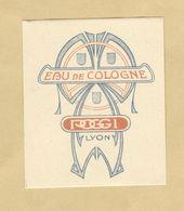 Etiquette Parfum Eau De Cologne Poggi LYON Format : 5 Cm X 6 Cm En Superbe.Etat - Etiquettes