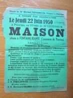 Affiche Provins Vente Adjudication Maison Située à Fontaine Riante - Posters