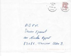 Oblitération Militaire VA 140 SPID HUB ARMEES. Timbre De Carnet Marianne De Ciappa. - Marcophilie (Lettres)