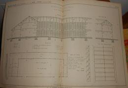 Plan De La Blanchisserie De M. Hugueny à Saint Dié. 1858 - Public Works
