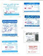Lot De 7 Tickets De Bus Algériens - Bus
