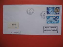 TAAF Lettre Martin De Vivies - St Paul -AMS   Pour La France N° 49 Et 50 Du 5/1/1978 Recommandé - French Southern And Antarctic Territories (TAAF)