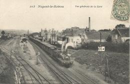 28  Nogent Le Retrou  La Gare  1908 - Gares - Sans Trains