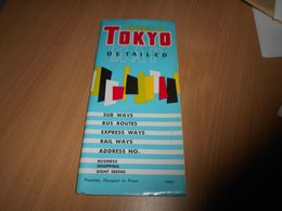 48A - Carte Routière, GREAT TOKYO MAP, 1962 - Carte Stradali