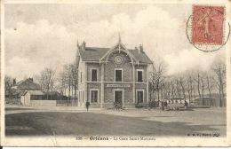 45 ORLEANS  La Gare St Marceau  1907 - Gares - Sans Trains