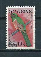 1987 Suriname Birds,oiseaux,vögel Overprint Used/gebruikt/oblitere - Suriname