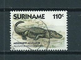 1988 Suriname 110 Cent Crocodile Used/gebruikt/oblitere - Suriname