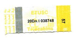 Ancien Ticket Téléphérique Constantine  Algérie - Tram