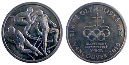 03865 GETTONE JETON TOKEN SLOVENJA COMMEMORATIVE SLOVENSKY OLYMPLJSKY VYBOR VANCOUVER 2010 - Tokens & Medals