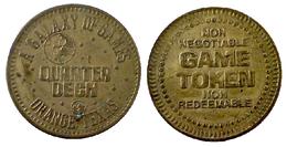 03860 GETTONE JETON TOKEN AMUSEMENT CENTER GAMING A GALAXY OF GAME QUARTER DECK ORANGE TEXAS - USA