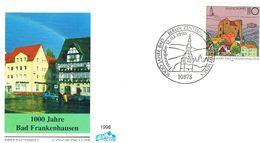 Deutschland FDC Michel 1978 Bad Frankenhausen - Burg, Kirche, Architektur, Fachwerk - [7] Federal Republic