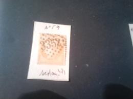 N°59  SEDAN GC 3352 Belle Frappe - Marcophily (detached Stamps)