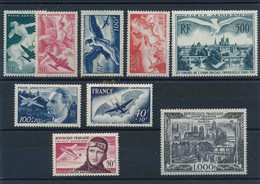 M-691: FRANCE: Lot  PA** N°16/19-20-22-23-29-34- - Airmail