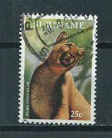 1991 Suriname 25 Cent Wild Animal,poema Used/gebruikt/oblitere - Suriname