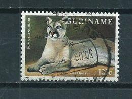 1991 Suriname 125 Cent Wild Animal,poema Used/gebruikt/oblitere - Suriname