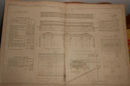 Plan D'un Heurtoir Terminal De La Gare De Strasbourg. 1858 - Public Works