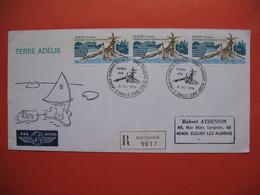 TAAF Lettre Dumont - D'urville - T. Adélie  Pour La France N°77 Et 66 Du  31/12/1978 Avisé + Vignette Par Avion - French Southern And Antarctic Territories (TAAF)