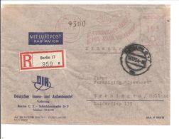 Freistemp1,05 Einschreiben>Luftpost>Berlin>Groningen Holland.Portogerecht.Stempel: FRIEDLICHER HANDEL MIT ALLEN VÖLKERN - [5] Berlin