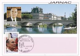 Carte-Maximum FRANCE N° Yvert 3042 (François MITTERAND) Obl Sp Ill Jarnac (Ed Artaud) - Maximum Cards